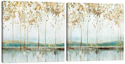 River Breath Diptych Canvas Art Print