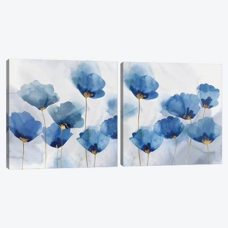 Pretty In Blue Diptych Canvas Print Set #ZEE2HSET017} by Isabelle Z Canvas Print