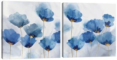 Pretty In Blue Diptych Canvas Art Print