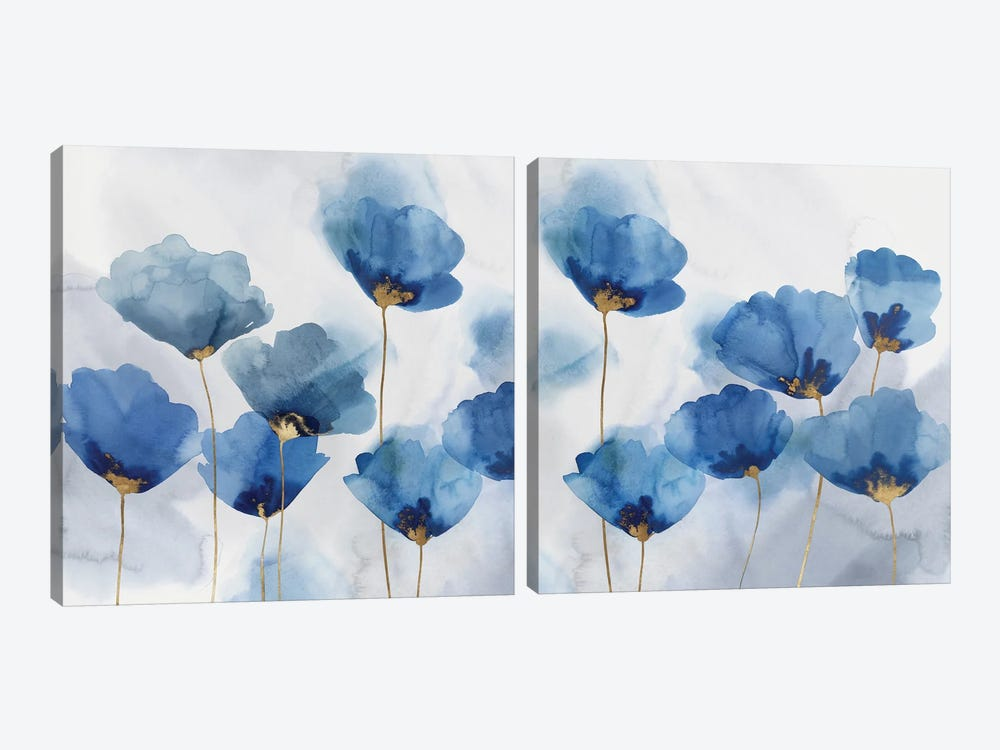 Pretty In Blue Diptych by Isabelle Z 2-piece Canvas Artwork