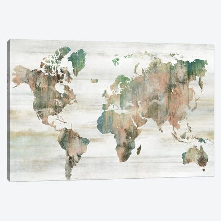 Map of the World  Canvas Print #ZEE335} by Isabelle Z Art Print