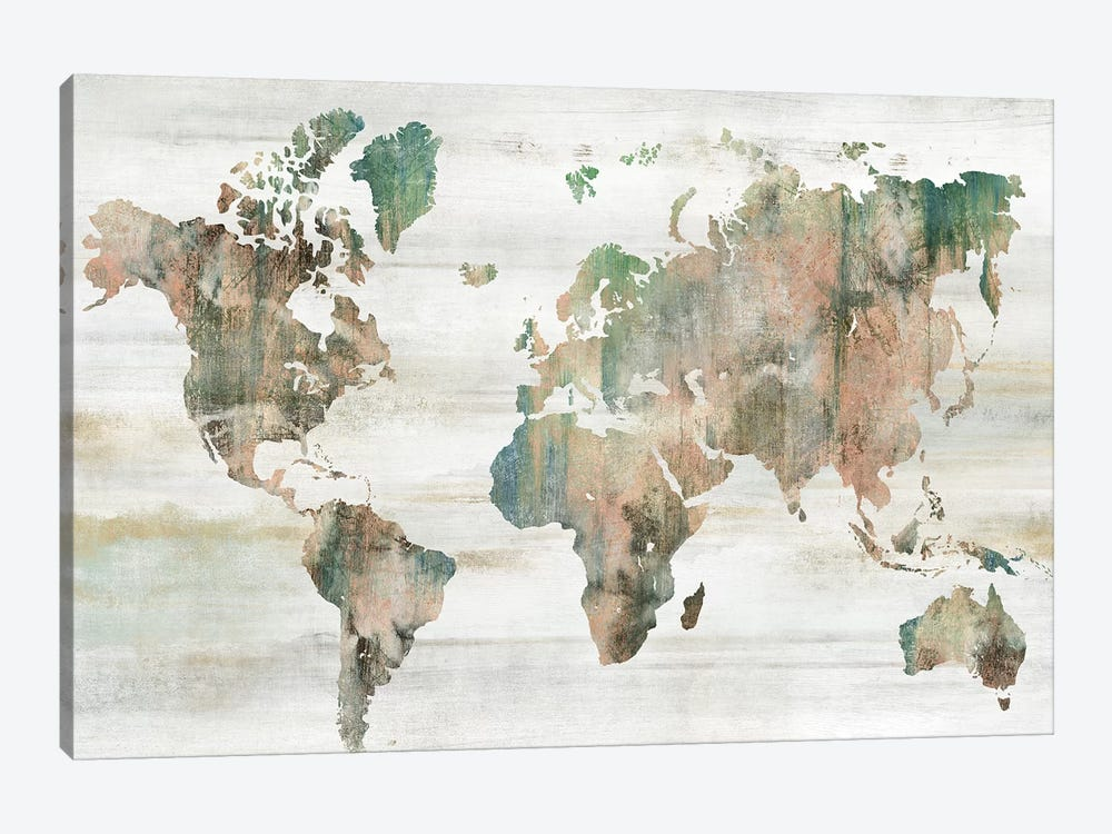 Map of the World  by Isabelle Z 1-piece Canvas Art