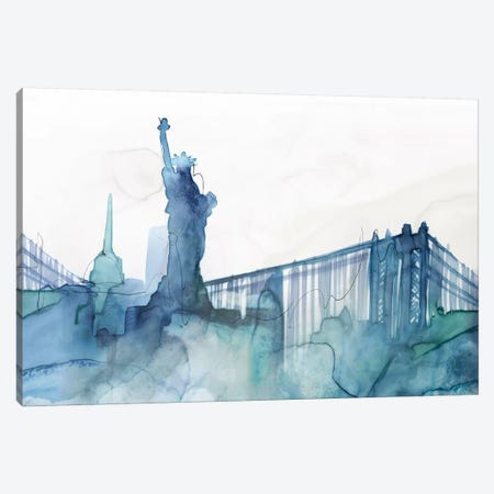 Ocean Blue New York  Canvas Print #ZEE338} by Isabelle Z Canvas Art