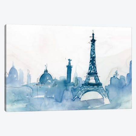 Ocean Blue Paris  Canvas Print #ZEE339} by Isabelle Z Canvas Artwork