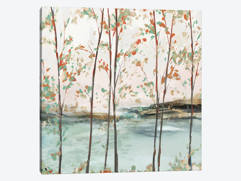 Sage Tree Forest II  by Isabelle Z 1-piece Canvas Wall Art