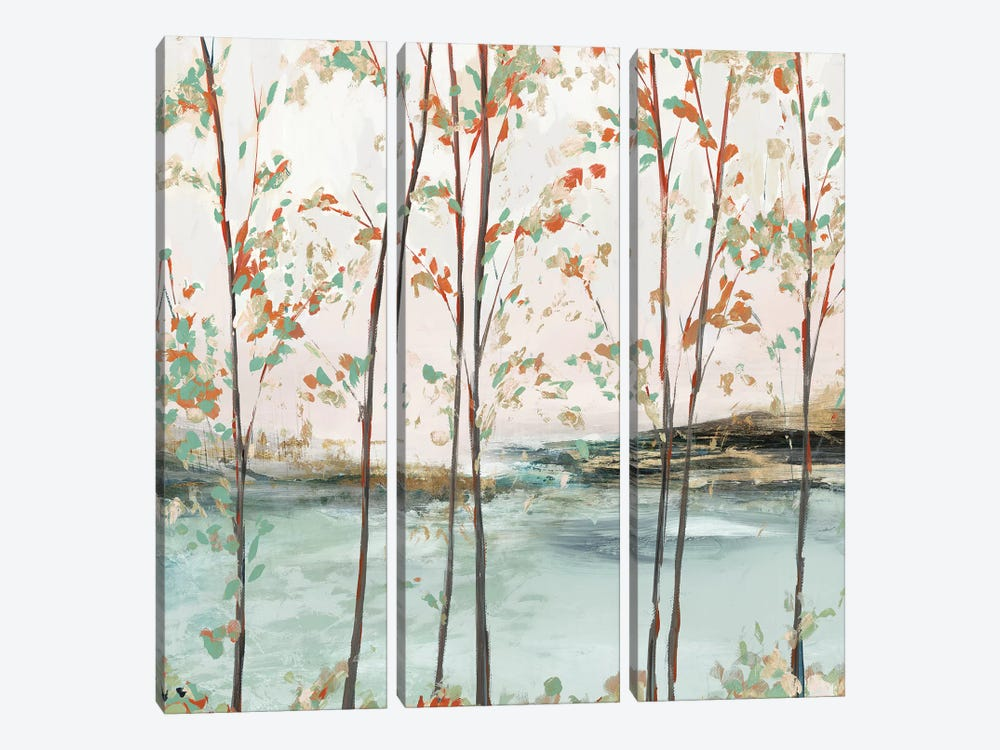 Sage Tree Forest II  by Isabelle Z 3-piece Canvas Art