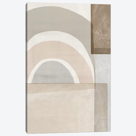 Beige Color Blocks Canvas Print #ZEE373} by Isabelle Z Canvas Art