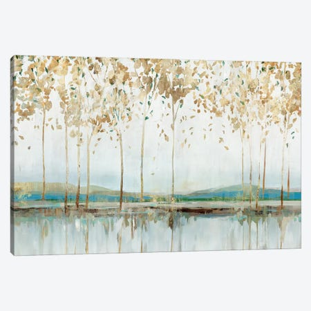 Golden Whisper 3-Piece Canvas #ZEE392} by Isabelle Z Canvas Art