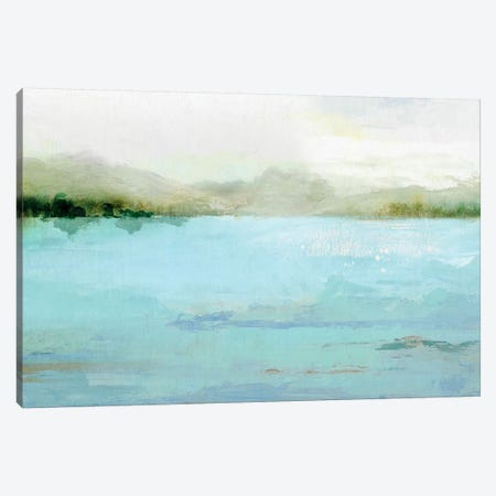 Blue Lake Canvas Print #ZEE3} by Isabelle Z Canvas Wall Art