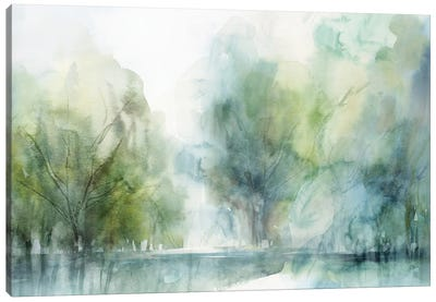 Blue Silence Canvas Art Print