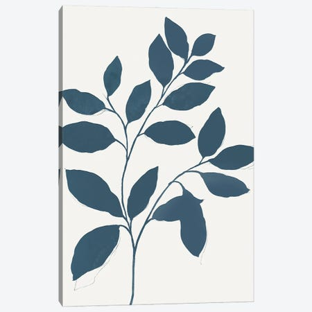 Blue Twig I Canvas Print #ZEE448} by Isabelle Z Canvas Art