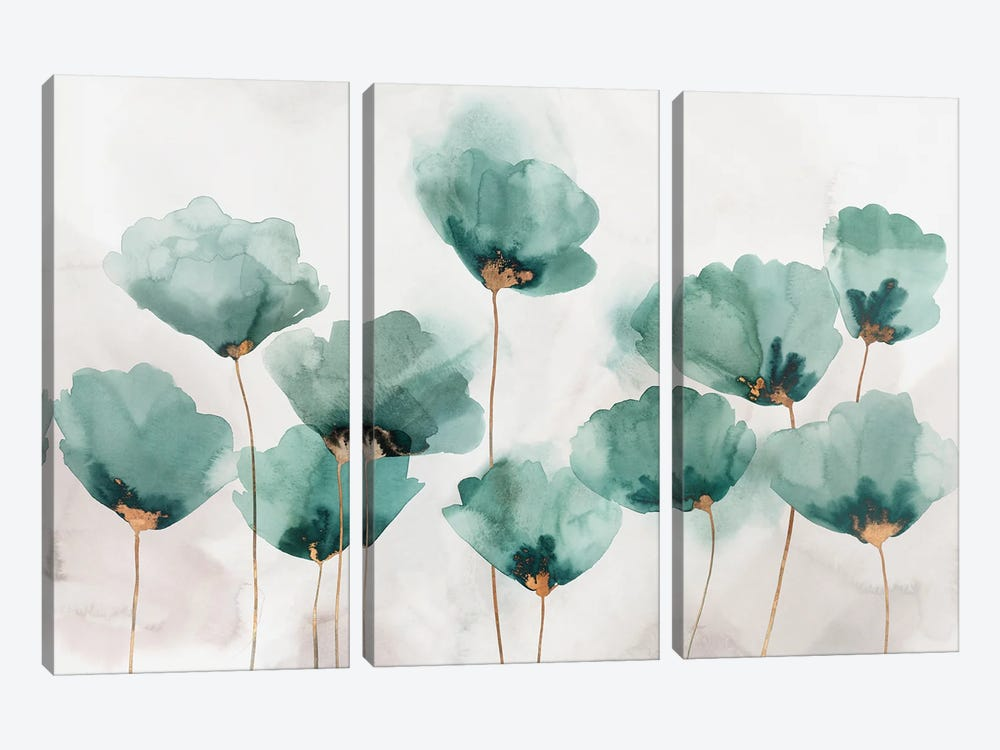 Emerald Gathering by Isabelle Z 3-piece Canvas Print