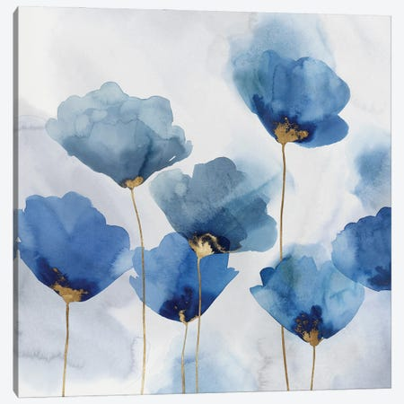 Pretty in Blue I Canvas Print #ZEE484} by Isabelle Z Art Print