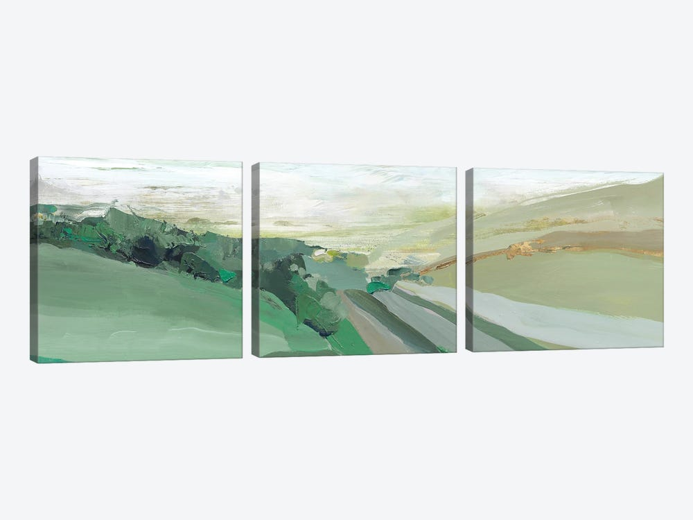 West Green Hills by Isabelle Z 3-piece Canvas Art Print