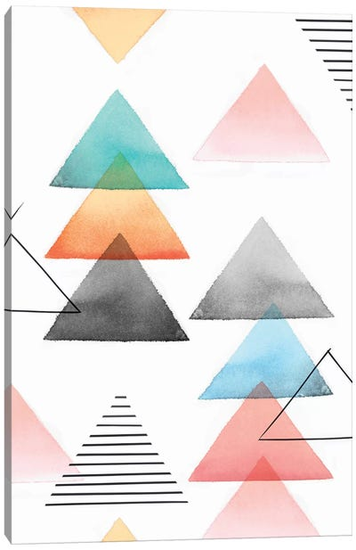 Group Of Triangles I Canvas Art Print