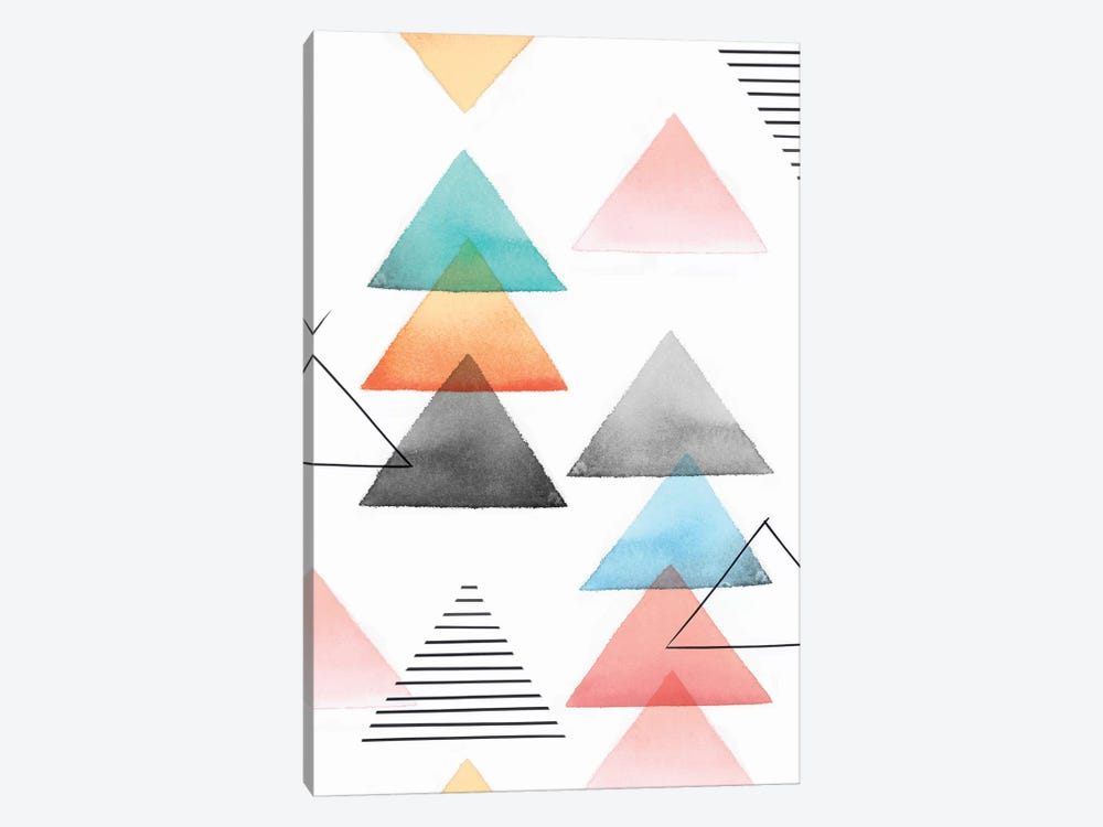 Group Of Triangles I by Isabelle Z 1-piece Canvas Print