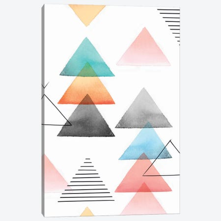 Group Of Triangles I Canvas Print #ZEE49} by Isabelle Z Canvas Art Print