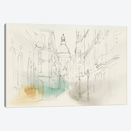City Sketches I Canvas Print #ZEE501} by Isabelle Z Art Print