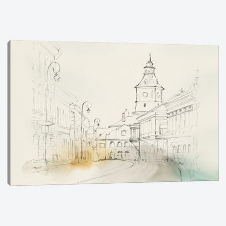 City Sketches II Canvas Print #ZEE502} by Isabelle Z Art Print