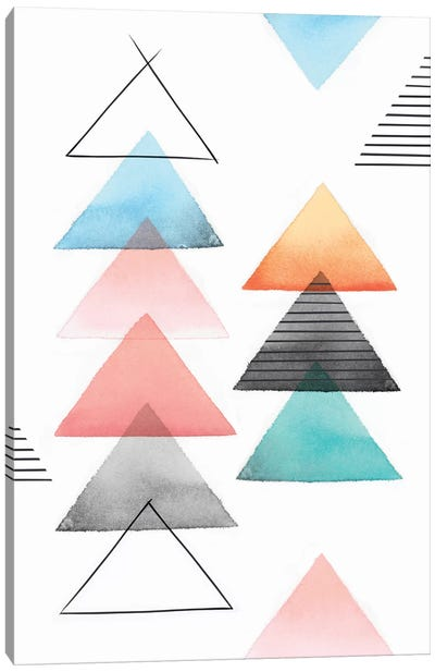 Group Of Triangles II Canvas Art Print