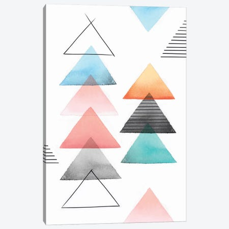Group Of Triangles II Canvas Print #ZEE50} by Isabelle Z Canvas Art