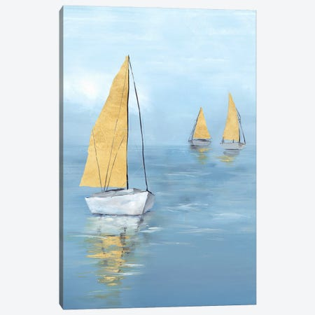 Golden Sail I Canvas Print #ZEE520} by Isabelle Z Canvas Print