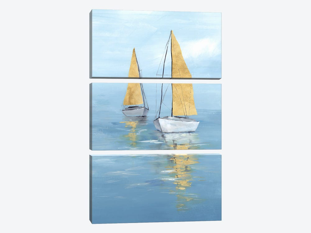 Golden Sail II by Isabelle Z 3-piece Canvas Print