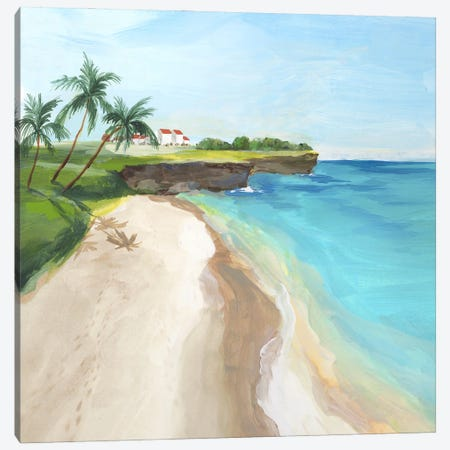 Summer Beach Walk Canvas Print #ZEE544} by Isabelle Z Canvas Wall Art