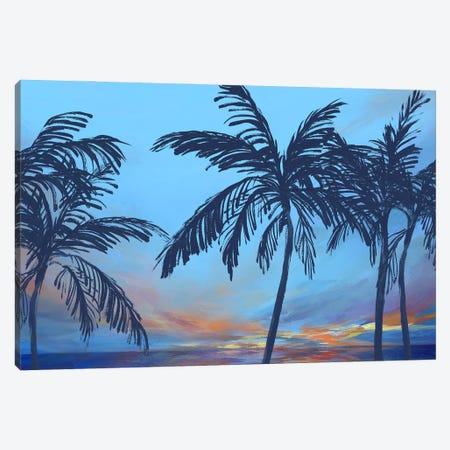 Sunset Beach Canvas Print #ZEE548} by Isabelle Z Art Print