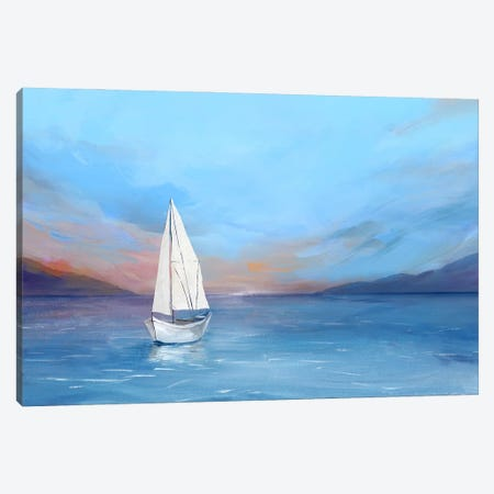 Sunset Sailboat Canvas Print #ZEE549} by Isabelle Z Canvas Art Print