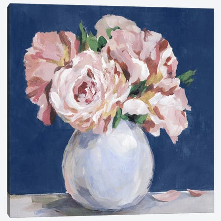 Sweet Peonies  In Vase Canvas Print #ZEE553} by Isabelle Z Canvas Art