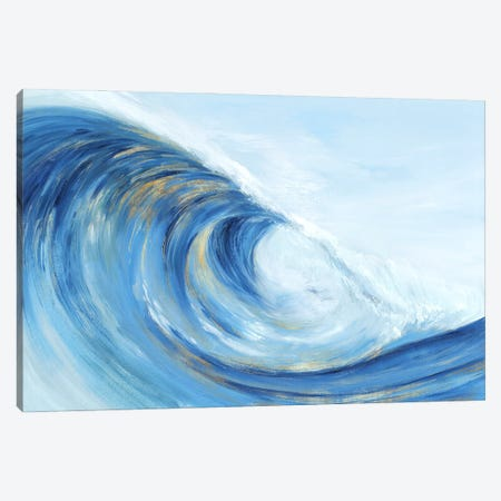 Wave Curl I Canvas Print #ZEE560} by Isabelle Z Canvas Print