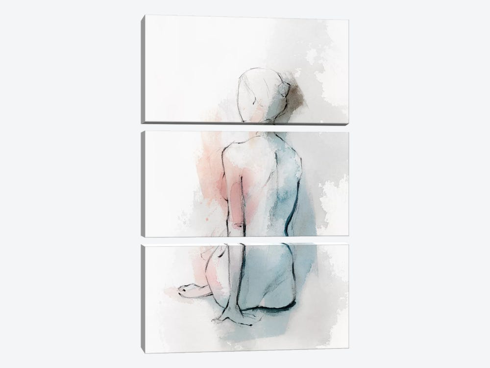 Pastel Woman II 3-piece Canvas Art
