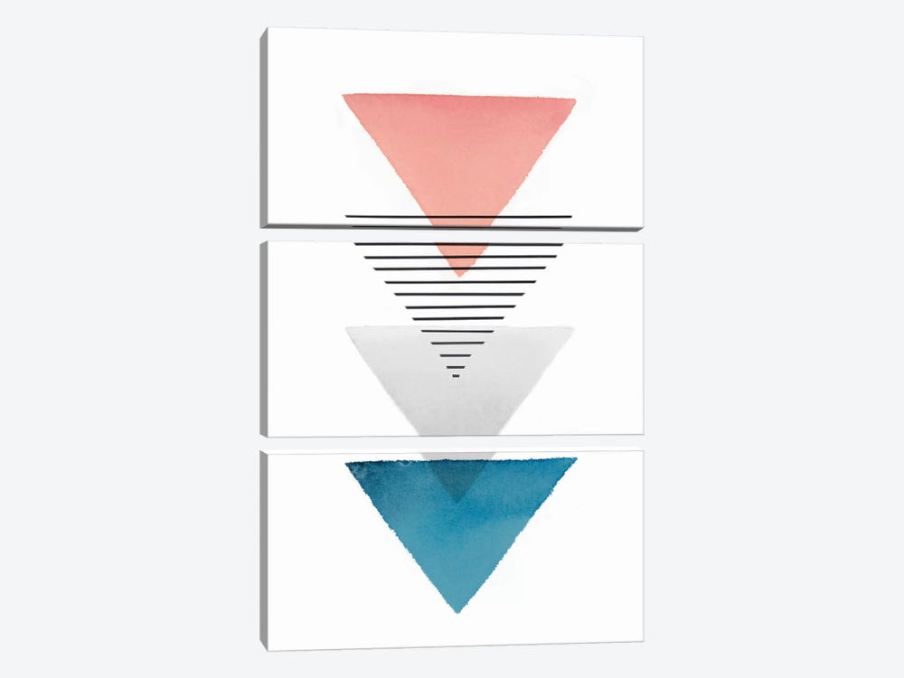 Triangular I by Isabelle Z 3-piece Art Print