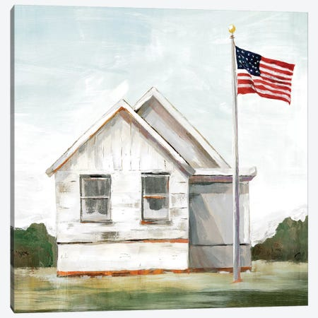 American Flag  3-Piece Canvas #ZEE78} by Isabelle Z Canvas Wall Art
