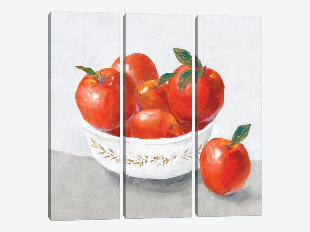Apples  by Isabelle Z 3-piece Canvas Art