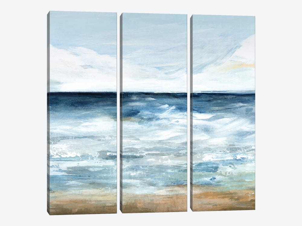 Blue Ocean I  by Isabelle Z 3-piece Canvas Print