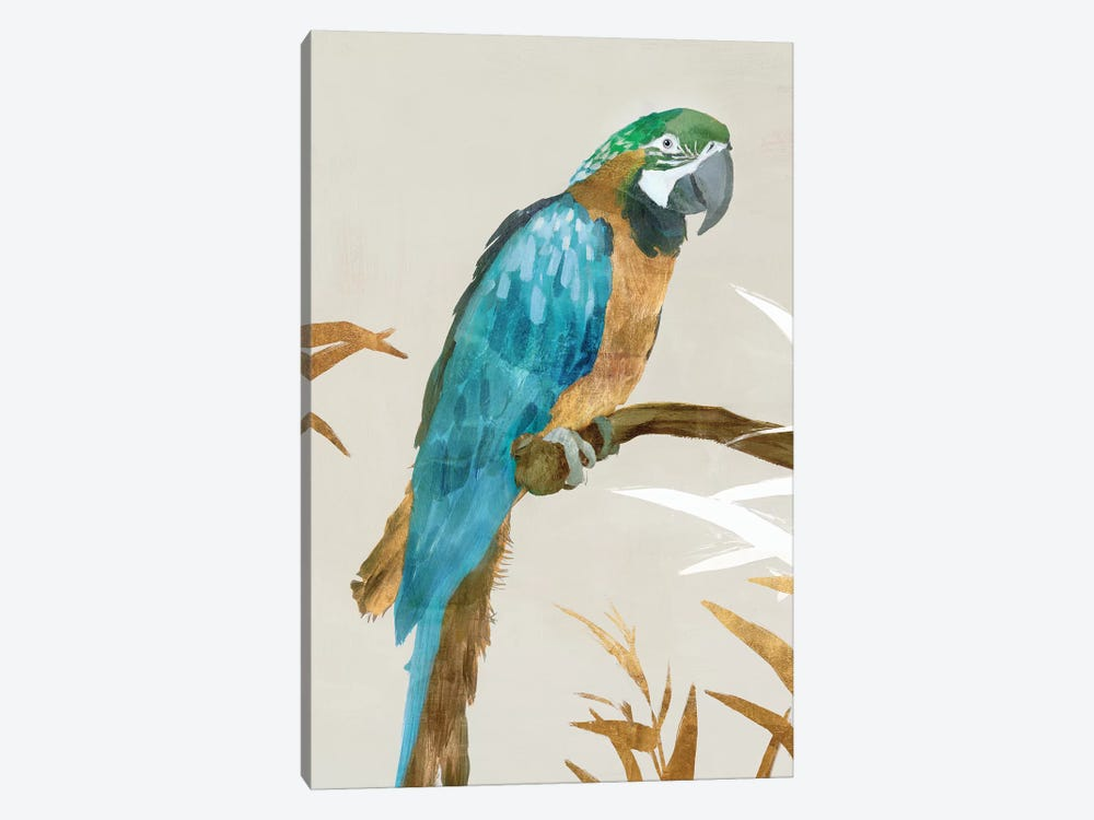 Blue Parrot I by Isabelle Z 1-piece Canvas Wall Art