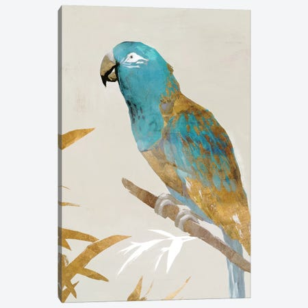 Blue Parrot II Canvas Print #ZEE92} by Isabelle Z Canvas Artwork