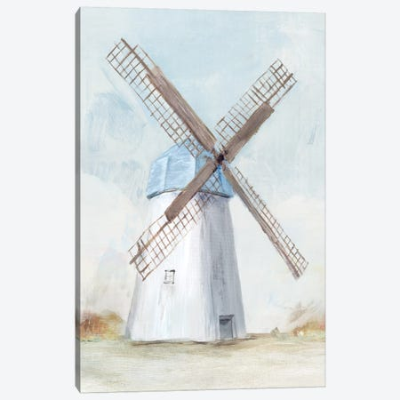 Blue Windmill I  Canvas Print #ZEE93} by Isabelle Z Canvas Art