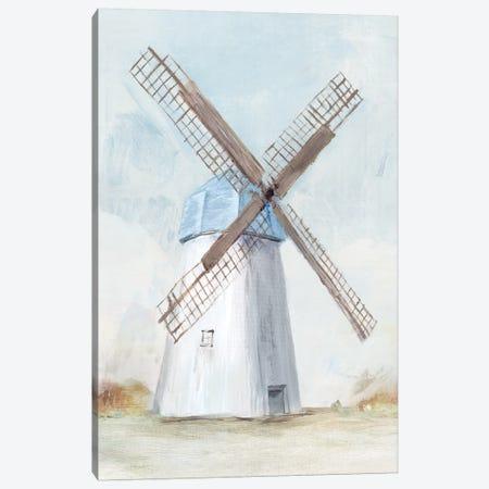Blue Windmill I  Canvas Print #ZEE93} by Isabelle Z Canvas Art