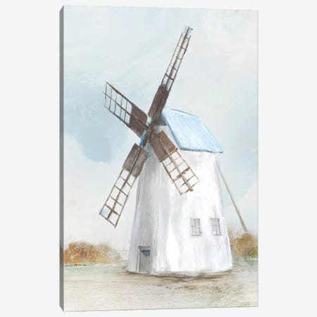Blue Windmill II  Canvas Print #ZEE94} by Isabelle Z Canvas Art Print