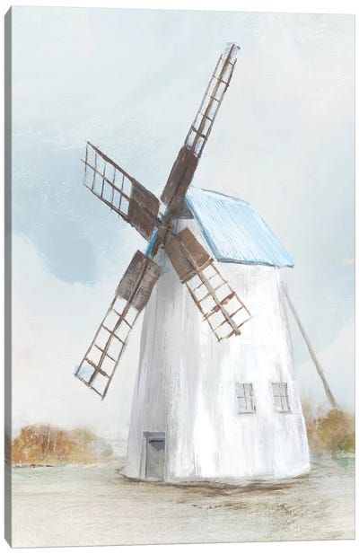 Blue Windmill II  Canvas Art Print