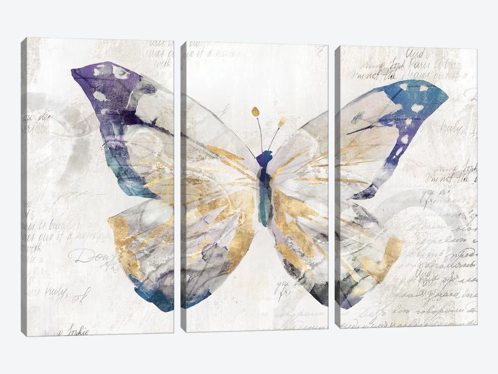 Butterfly Effect I  by Isabelle Z 3-piece Canvas Wall Art