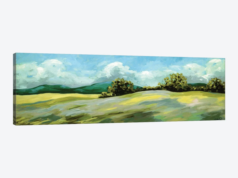 Lush Green Landscape by Kristina Wentzell 1-piece Canvas Art Print