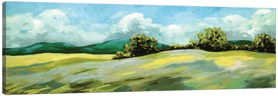 Lavender Breeze Panel Green Canvas Art Print
