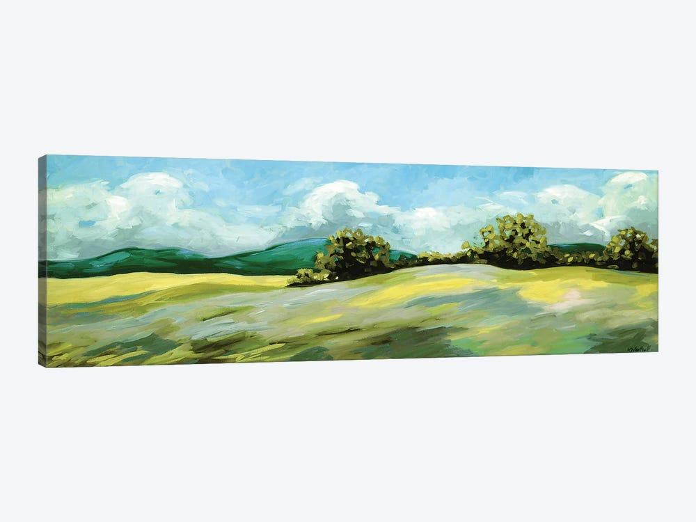 Lavender Breeze Panel Green by Kristina Wentzell 1-piece Canvas Print