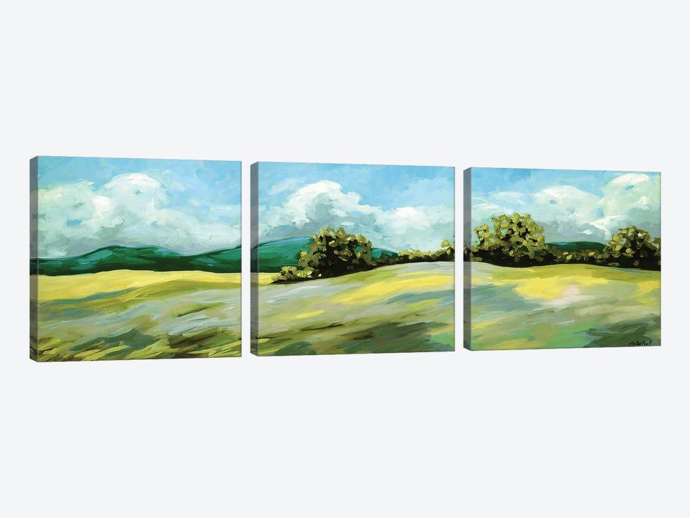 Lavender Breeze Panel Green by Kristina Wentzell 3-piece Art Print