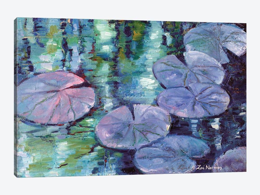 Blue Nympheas by Zoe Elizabeth Norman 1-piece Canvas Art