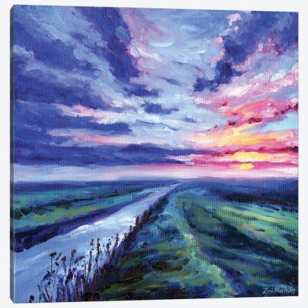 The Fens Canvas Print #ZEN114} by Zoe Elizabeth Norman Canvas Art